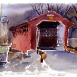 Silk Road Bridge Bennington - watercolor plein air sketch by Tony Conner