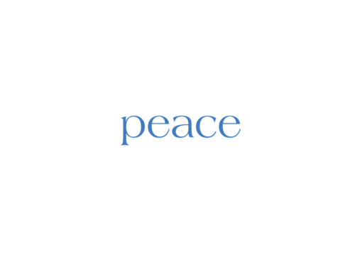 """Winter Holiday Greeting Card - Inside Message """"peace"""""""