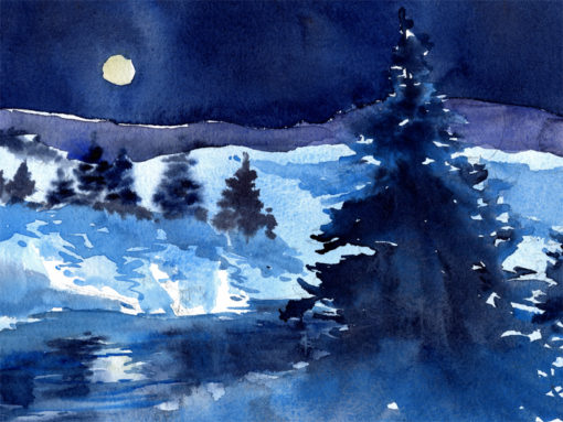 Winter Holiday Greeting Card - by Tony Conner