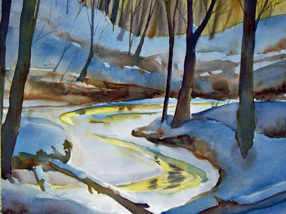 Late Winter - watercolor painting by Tony Conner