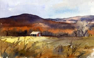 Post Show - watercolor plein air landscape painting by Tony Conner