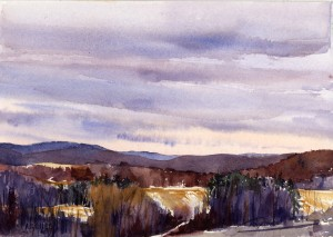 The Long View - en plein air watercolor painting by Tony Conner