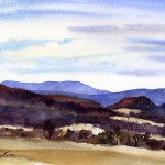 Little Hill - watercolor en plein air landscape painting by Tony Conner