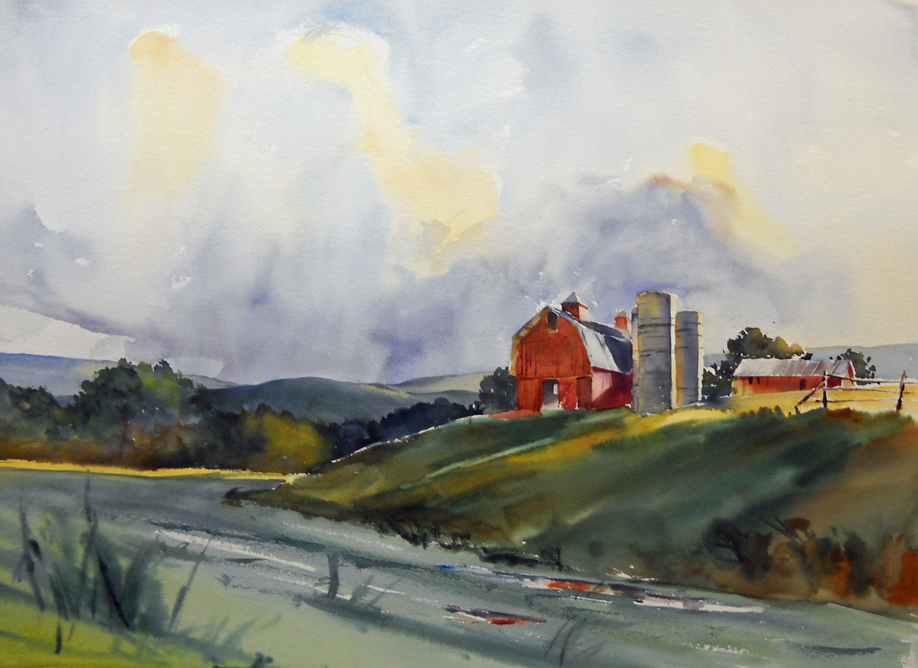 """The Passing Storm"" – rural summer landscape painting"