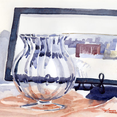 A Glass Vase - watercolor still life painting by Tony Conner