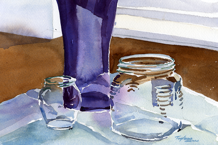 """Honey & Fig Jars on Table"""
