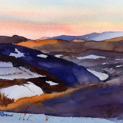 The Pownal Valley - watercolor plein air painting by Tony Conner