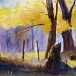 """""""Deep Autumn"""" - - limited edition giclee' print from original watercolor painting by Tony Conner"""