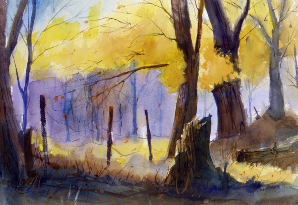 """Deep Autumn"" - - limited edition giclee' print from original watercolor painting by Tony Conner"