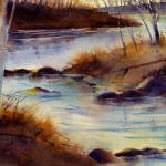 Late Autumn White Creek - limited edition giclee' print from original watercolor painting by Tony Conner