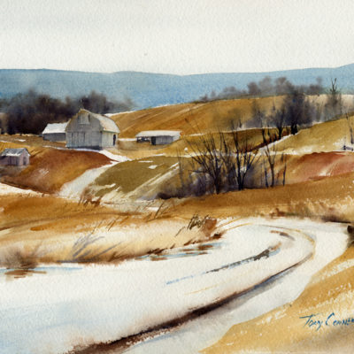 """Light Dusting"" - limited edition giclee' print from original watercolor painting by Tony Conner"