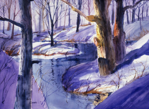 WINTER LIGHT- limited edition giclee' print from original watercolor painting by Tony Conner