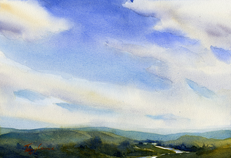 Westward - limited edition giclee' print of original watercolor painting by Tony Conner