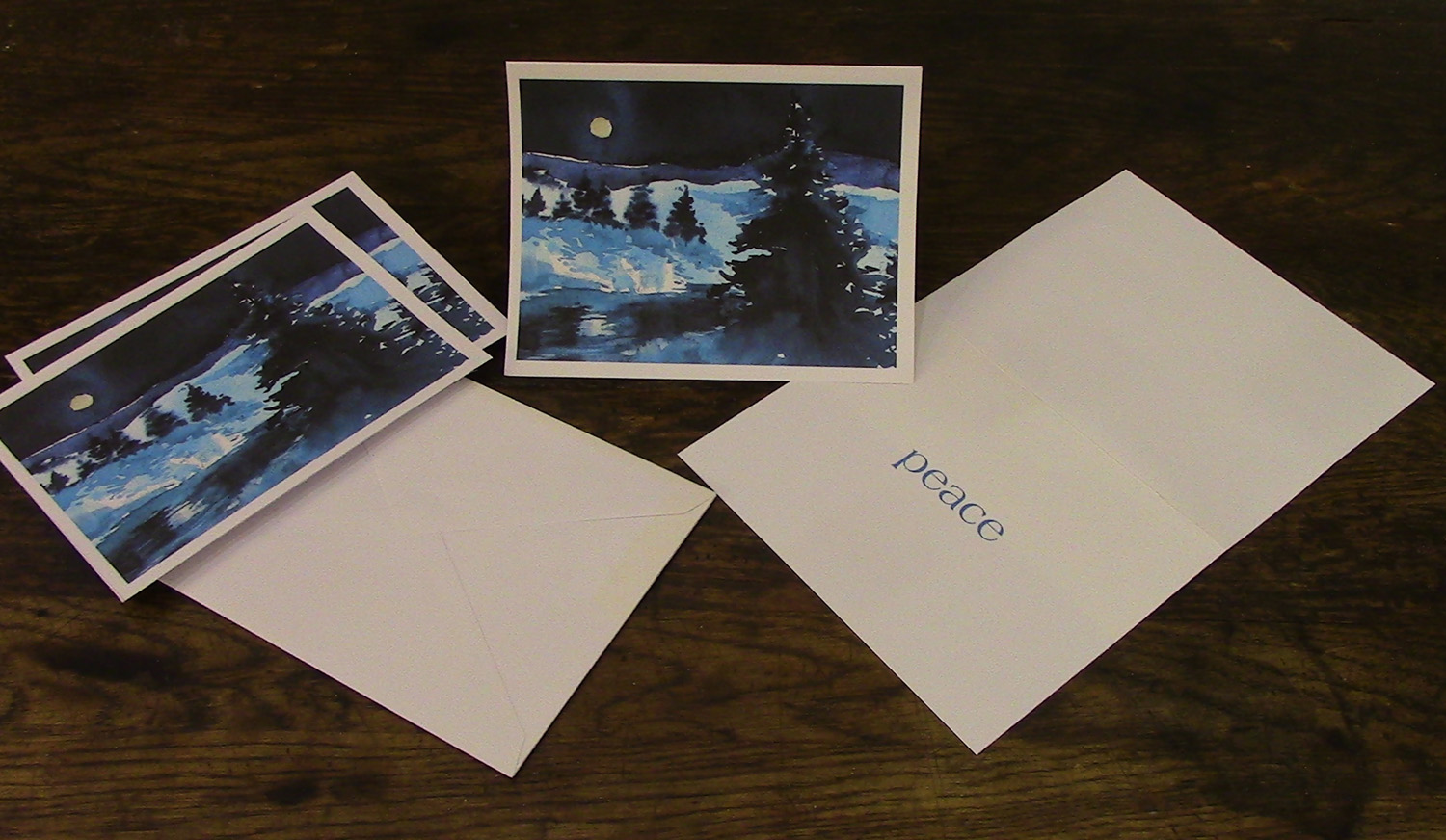 Winter holiday greeting cards simple card with a simple message winter holiday greeting cards simple card with a simple message peace m4hsunfo