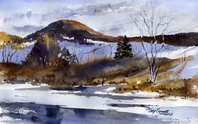 """Preview"" – Watercolor Landscape Painting"