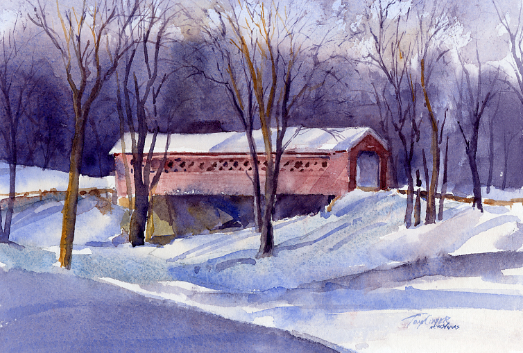"""8AM"" – Watercolor Plein Air Landscape Painting"