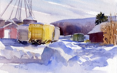 """Canary Car"" – A Splash Of Color In The Winter Landscape"