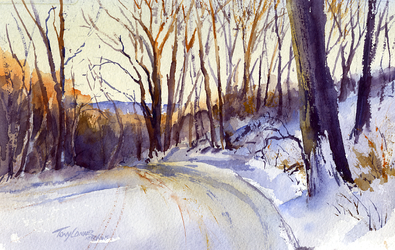 """Snow Covered"" – Plein Air Landscape Painting"