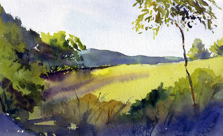 """Morning Light From Carpenter Hill Road"" – plein air landscape painting"