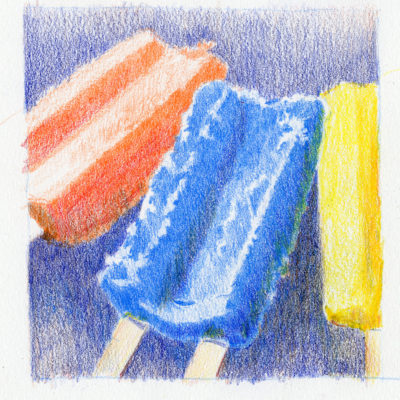 Popcicles - colored pencil drawing by Tony Conner