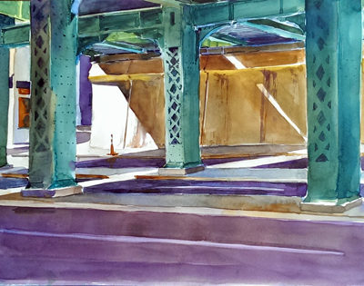 Morning Down Under - watercolor plein air painting by Tony Conner