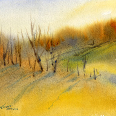 October Dream - watercolor landscape painting by Tony Conner