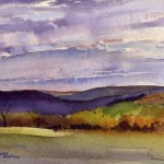 Spring Landscape - en plein air watercolor painting by Tony Conner