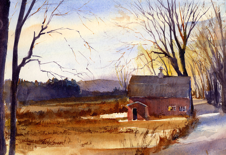 Olden Time - en plein air watercolor landscape painting by Tony Conner