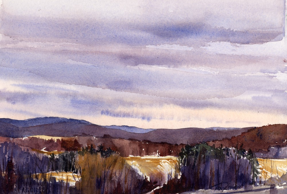 """The Long View"" – Northeast Winter Color – En Plein Air Landscape"