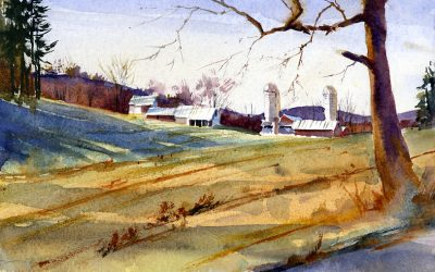 """State Line Road"" – the spring landscape en plein air"