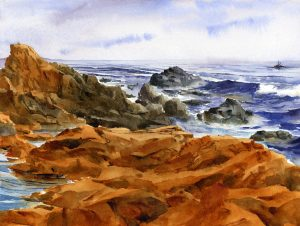 Cape Ann - watercolor en plein air landscape painting by Tony Conner