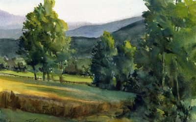 """High Meadows""- Summer Evening En Plein Air"
