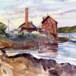 The Paint Factory - en plein air watercolor painting by Tony Conner