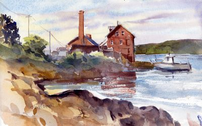 """The Paint Factory"" – original en plein air watercolor painting"