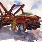 Working Jimmy - en plein air watercolor painting by Tony Conner