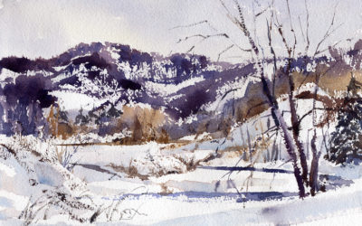 Tunbridge Hills – en plein air watercolor landscape painting