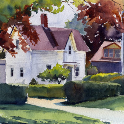 House On High Street - en plein air landscape painting by Tony Conner