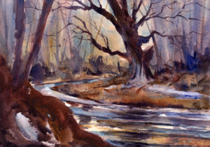 Melt - watercolor landscape painting by Tony Conner