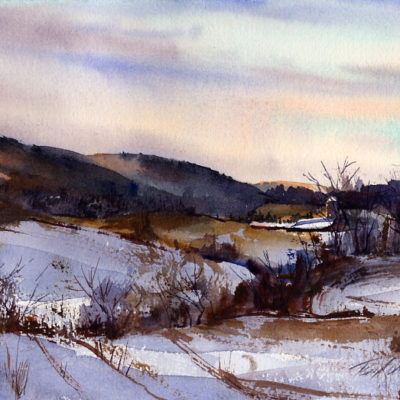 North Hoosick - en plein air watercolor painting by Tony Conner