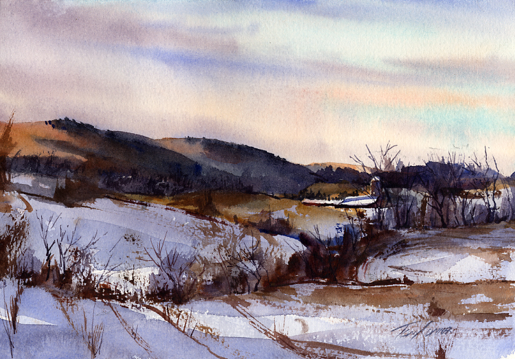 Painting The Winter Landscape In Watercolor