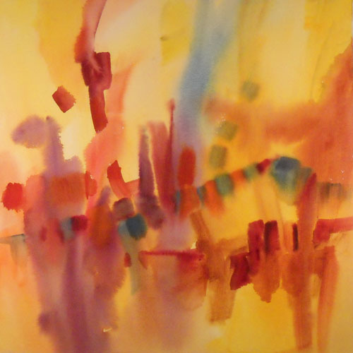 October Symphony I Original Abstract Watercolor Painting