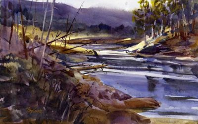 South Creek – en plein air watercolor landscape painting