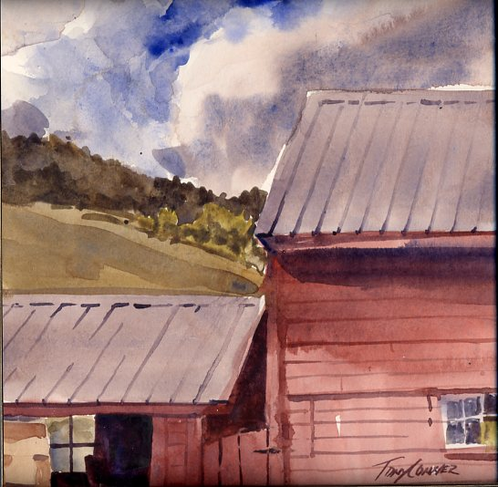 Sheep Hill Afternoon – en plein air watercolor painting
