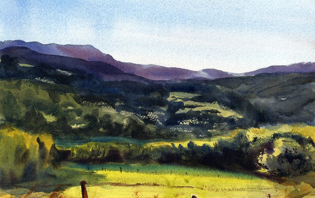 """""""Summer Riches"""" – Watercolor Landscape Painting"""