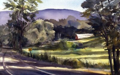 """Blair Road"" – En Plein Air Watercolor Painting"