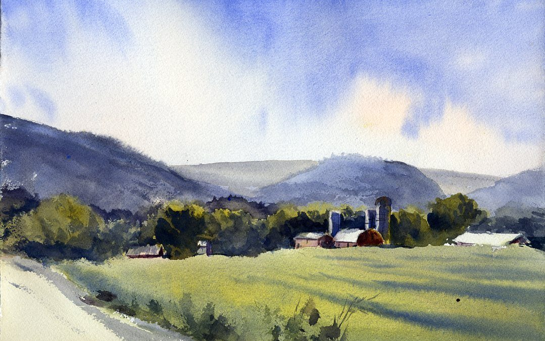 """North Pownal"" – En Plein Air Watercolor Painting"