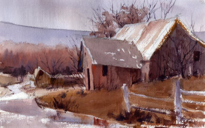 """Old and Weary"" – Watercolor Landscape Painting"