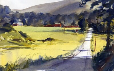 """In The Country"" – En Plein Air Watercolor"